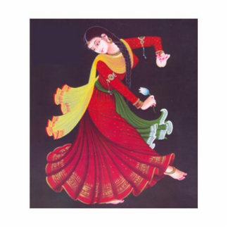 Indio 5000 años de baile de la pintura del chica fotoescultura vertical