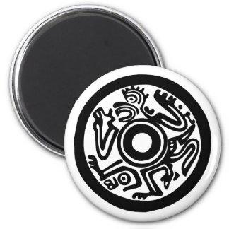 Indio American precolombina Native precolumbia Imán Redondo 5 Cm