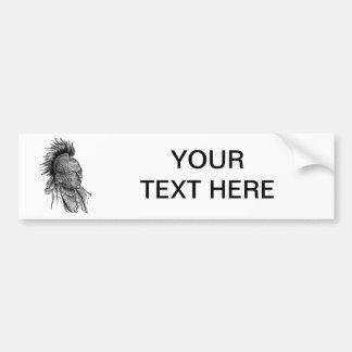 Indio americano etiqueta de parachoque