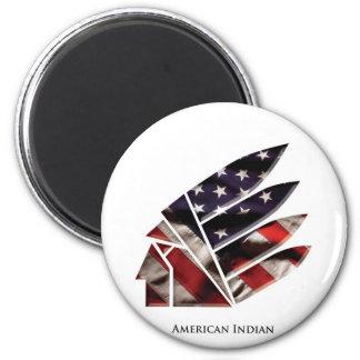 indio americano imán redondo 5 cm