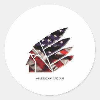 indio americano pegatina redonda