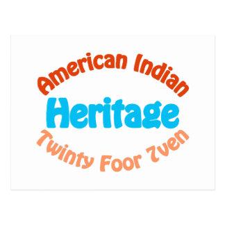 Indio americano - Twinty Foor 7ven Postales