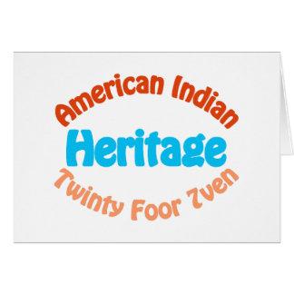Indio americano - Twinty Foor 7ven Tarjeta De Felicitación