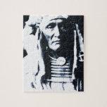 Indio Apsaroke del nativo americano Puzzles