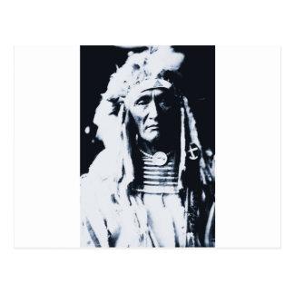 Indio Apsaroke del nativo americano Postal