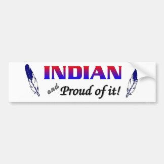 indio etiqueta de parachoque