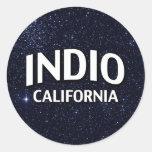 Indio California Pegatina Redonda