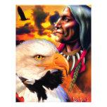 Indio con el águila. Siux Membrete