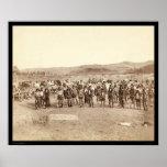 Indio de Miniconjou en la danza SD 1890 de la hier Posters