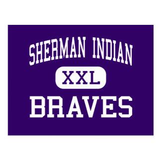 Indio de Sherman - Braves - alto - orilla Tarjetas Postales