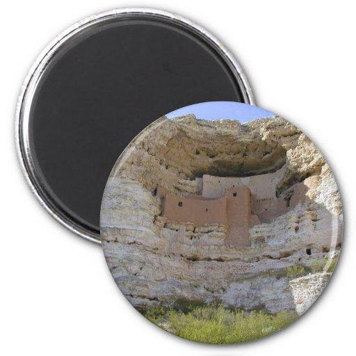 Indio del acantilado del castillo de Montezuma Imanes Para Frigoríficos