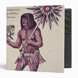 """Indio del Amazonas, grabado por Theodore de Bry Carpeta 1 1/2"""""""