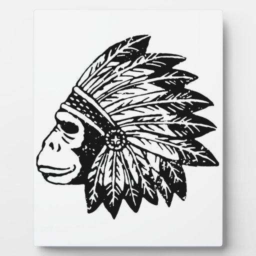 Indio del gorila placa de plastico