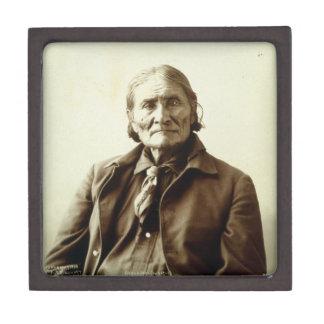 Indio del nativo americano de Geronimo (Guiyatle)  Cajas De Joyas De Calidad