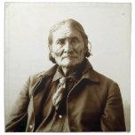 Indio del nativo americano de Geronimo (Guiyatle)  Servilleta