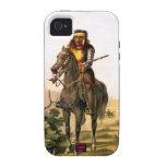 Indio del nativo americano en la parte posterior d iPhone 4/4S carcasa