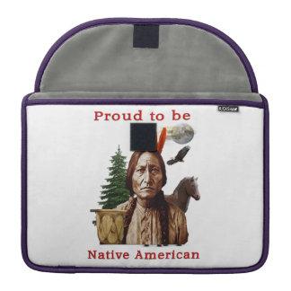 Indio del nativo americano funda para macbook pro