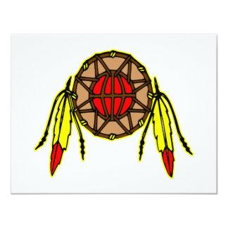 """Indio del nativo americano invitación 4.25"""" x 5.5"""""""