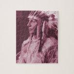 Indio del nativo americano puzzles