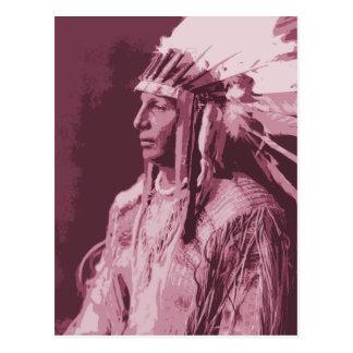 Indio del nativo americano postal