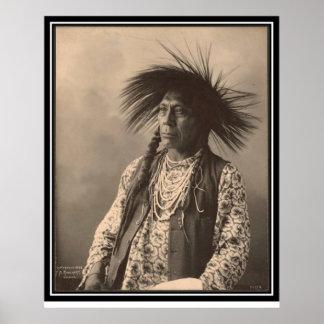 Indio del vintage: Antoine Moise, de cabeza llana  Posters