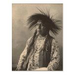 Indio del vintage: Antoine Moise, de cabeza llana  Tarjetas Postales