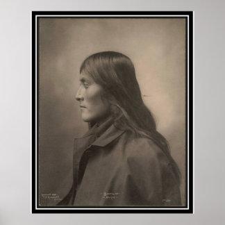 Indio del vintage Bartelda Apache - Poster