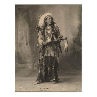 Indio del vintage Hombre negro Arapahoes - Postal