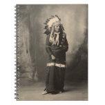 Indio del vintage: Oso de Eagle, Siux - Libro De Apuntes Con Espiral