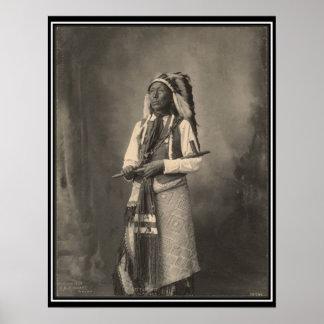 Indio del vintage Pequeño jefe Arapahoe - Poster