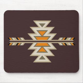 Indio Diseño-Brown del sudoeste Mouse Pad