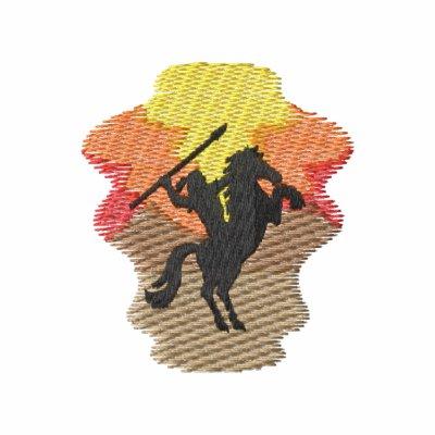Indio en caballo polo bordado
