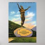 Indio en la estatua del rastro en la opinión del p póster
