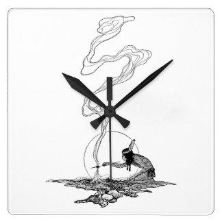 Indio en su soledad por NC Wyeth, vintage del Reloj Cuadrado
