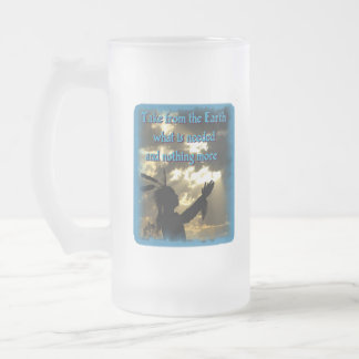 Indio espiritual taza de cristal