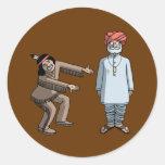 Indio indio del V. Etiquetas Redondas
