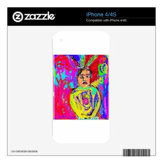 Indio julio de la MOD del arte pop iPhone 4 Calcomanía