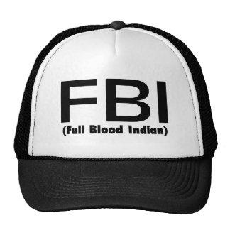 Indio lleno del FBI Blooded Gorro De Camionero