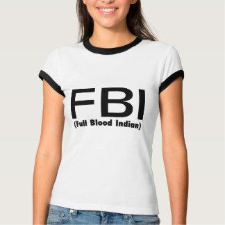 Indio lleno del FBI Blooded Playera