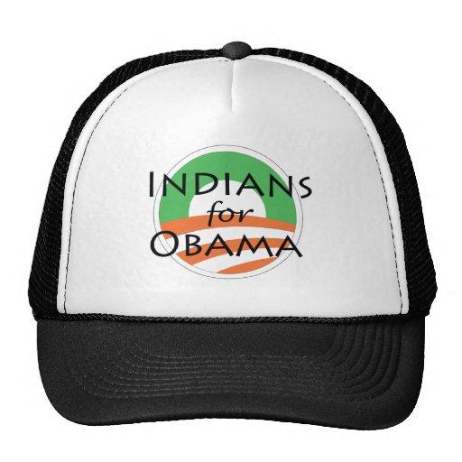 Indio para Obama Gorras