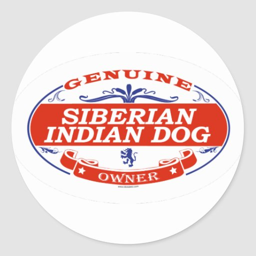 INDIO SIBERIANO DOG_ PEGATINAS REDONDAS