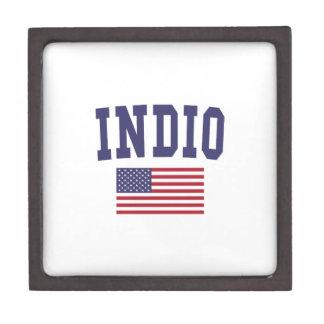 Indio US Flag Jewelry Box