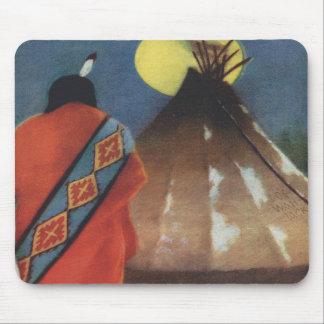 Indio y tienda de los indios norteamericanos del v alfombrillas de ratón