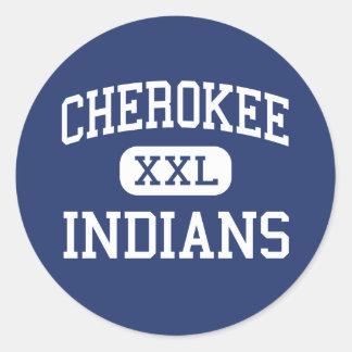 - Indios - alto cherokee - Alabama cherokee Pegatina Redonda