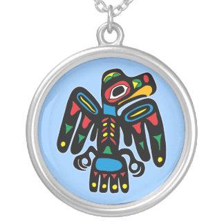 Indios American Native cuervo raven Colgante Redondo