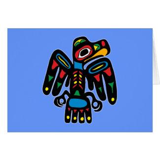 Indios American Native cuervo raven Tarjeta De Felicitación