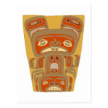 Indios American Native Holzmaske wooden mask Tarjetas Postales