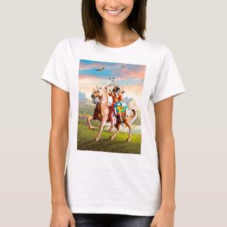 Indios americanos Brave en caballo Playera