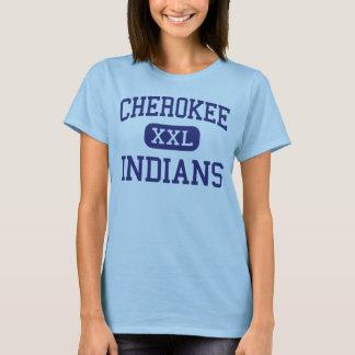 Indios cherokees Alabama cherokee media Playera