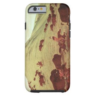 Indios de Siux que cazan el búfalo, 1835 (aceite Funda De iPhone 6 Tough